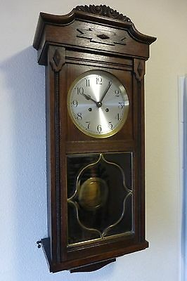 Antique / Vintage Wall Clock,   Edwardian,  German 14 Day Wall Clock,  £95