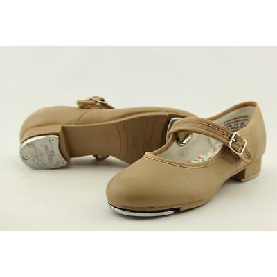 Capezio Mary Jane Youth US 2 W Tan Dance Pre Owned  1741