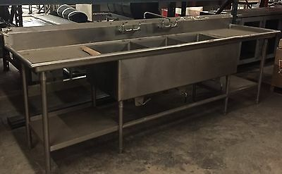"Custom 3 Compartment Sink 112""x31""x38"""