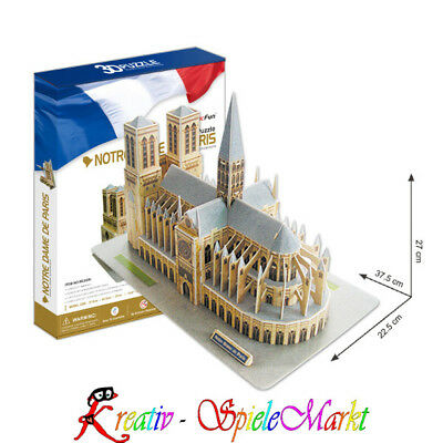 cubic fun 3d puzzle notre dame de paris frankreich mit led beleuchtung eur 26 99 picclick de. Black Bedroom Furniture Sets. Home Design Ideas