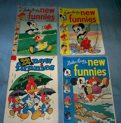 Lot of 4 vintage 1950's Walter Lantz New Funnies Comic Books No.211-125-164-132