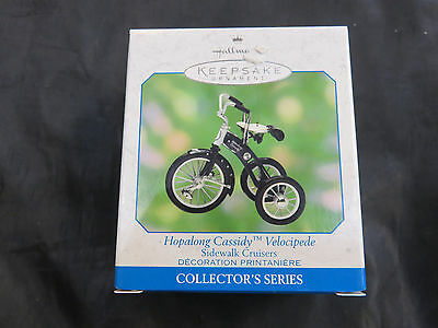 VINTAGE 2000 HALLMARK ORNAMENT Hopalong Cassidy Velocipede Tricycle NEW IN BOX