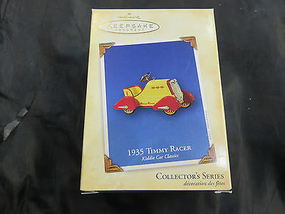 VINTAGE 2004 HALLMARK ORNAMENT 1935 Timmy Racer Pedal Car NEW IN BOX