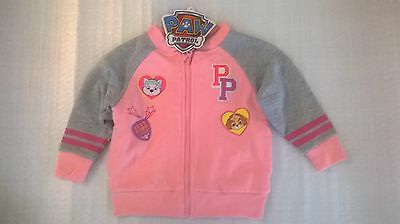 Paw Patrol / Girls / Zip Jacket / Sizes 2, 3, 4, 5 And 6.