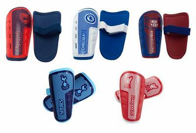 Football Shin Guards Pads Age 7-14 Arsenal, Barcelona, Chelsea, Liverpool, Spurs