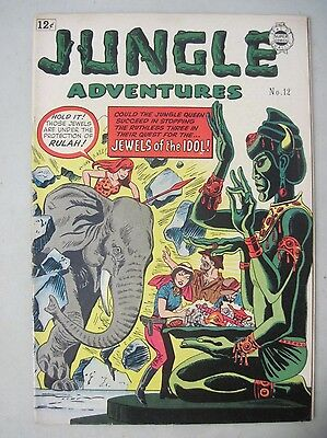 Jungle Adventures #12 Super Comics 1963 Reprints Rulah Jungle Goddess Gga