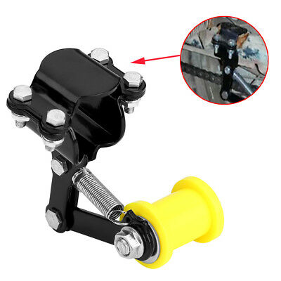 Universal Motorcycle Automatic Adjuster Chain Tensioner Tool Roller Black TKDF