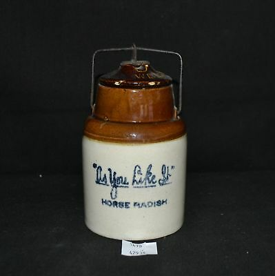 "ThriftCHI ~ Stoneware Horse Radish Crock ""As You Like It"""
