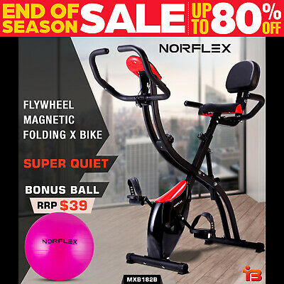 Folding Exercise X Bike Recumbent Magnetic Trainer Home Gym Fitness Equipment