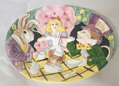 Fitz & Floyd Alice In Wonderland Canapé Plate