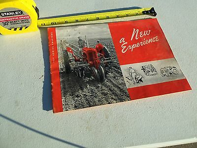 vintage 1941 S series J.I. Case Tractor Sales Manual A New Experience  original • $8.00