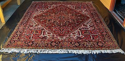 GENUINE BEAUTIFUL ROOM SIZE HAND KNOTTED HERIZ PILE RUG Circa 1970