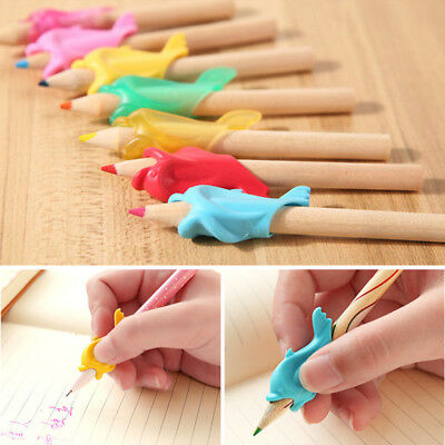 10x DOLPHIN PEN HOLD WRITING POSTURE CORRECTION DEVICE STUDENT STATIONERY COMFY