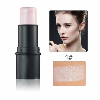 Waterproof Round Tube Highlighter Stick Enhance Complextion Cream Shimmer GA