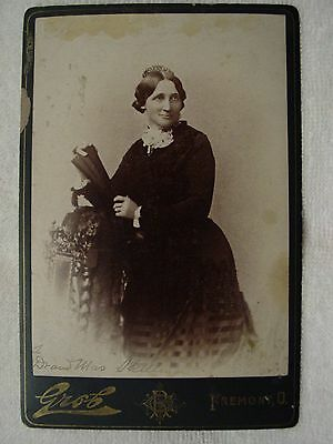 LUCY WEBB HAYES Cabinet Card Photo President Rutherford's Wife Fremont OH R Grob