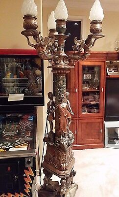Large Brass Ornate Collectible Lamp Post