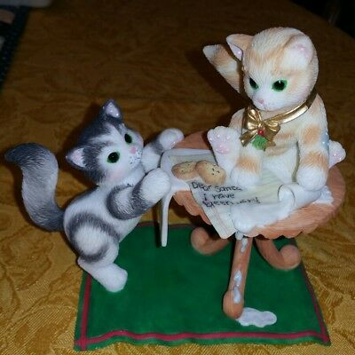 Calico Kittens - IT TAKES A SMART COOKIE TO FIND MILK ~ Enesco ~ EUC!