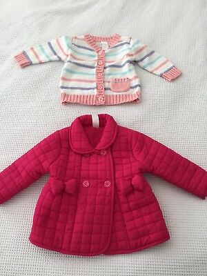 Girls Size 0 JUMPER Jacket BUNDLE bulk LOT buy (Cardigan Coat) 6-12 Months