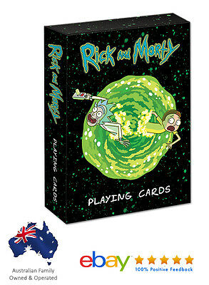 Rick And Morty Custom Illustrated Deck of 52 Playing Cards