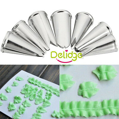 Leaf Leaves Nozzle Tips for Piping Icing Cup Cake Sugarcraft Decorating