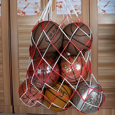 10 Ball Sports Balls Football Basketball Storage Bags Draw Cord Mesh Carry Net