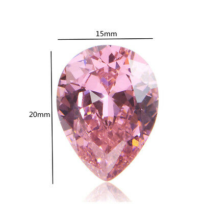 10pcs 26.40ct Pink Heart Cut Unheated Loose Gemstone Zircon Necklace Ring Decor
