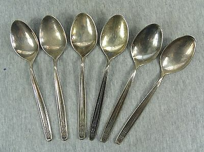 ANTIQUE LOT SET of 6 SILVER PLATED WMF PATENT 90 FLATWARE SPOONS