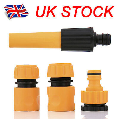 4Pcs GARDEN HOSE PIPE TAP CONNECTOR FITTING WATER ATTACHEMENTS NOZZLE STARTER