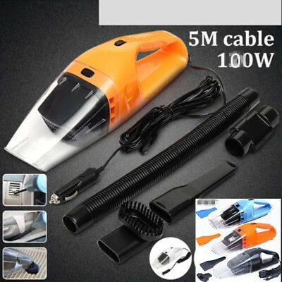 Portable 12V 100W Dust Auto Vehicle Car Handheld Wet & Dry Vacuum Dirt Cleaner
