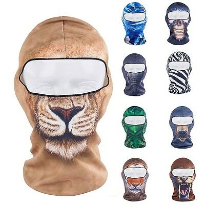 3D Thin Outdoor Cycling Ski Balaclava Neck Hood Full Face Mask Hat Beanie Animal