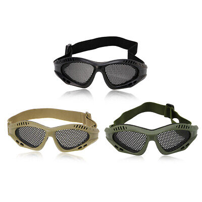 Tactical Eye Protection Airsoft Goggles Anti Motorcycle Fog Mesh Metal Glasses