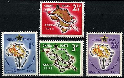 Ghana 1958 SG#189-192, 1st Conference Independent States MNH Set #D34536