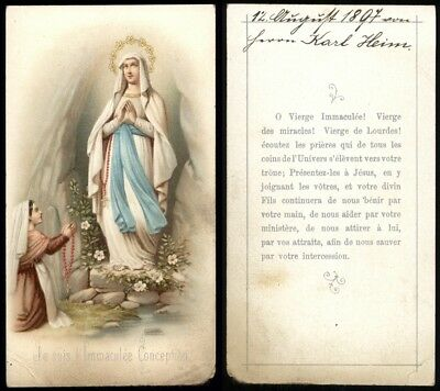 ANDACHTSBILD Je suis l'Immaculée Conception - Madonna - Maria - Farblitho 1897