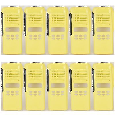 10x Yellow Repair Case Housing For Motorola HT1250 Limited-keypad Portable Radio