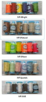 Marathon Embroidery Machine Thread Polyester Set of 6s Choice of Boxes Neon etc