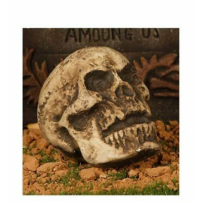 Life Size Realistic Human Skull Gothic Halloween Decoration Ornament Party Prop