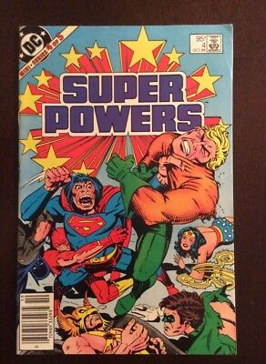 Super Powers #4 High Grade Issue .95 Cents Canadian Price Variant / Edition