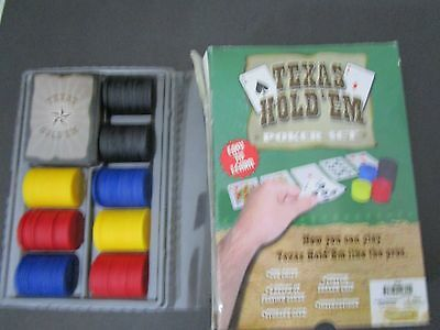 Texas Hold Em Poker Set Complete Good Condition