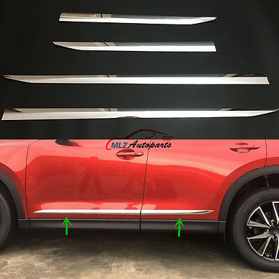 Car Side Door Body Trim ABS Chrome For Mazda CX-5 2017 2018 Molding Accessories