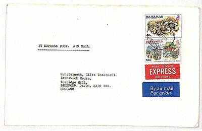 UU496 1981 Bahamas Devon GB Cover {samwells-covers}