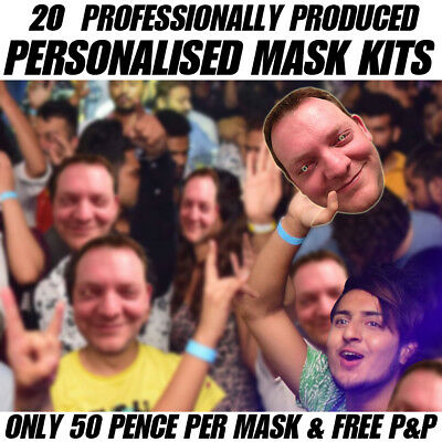 20 Pack Of Personalised Face Mask Kits - Budget Custom Masks To Make At Home