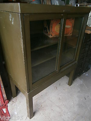 """Industrial Metal Cabinet by """"Library Bureau Makers"""" Bookcase Display cupboard"""