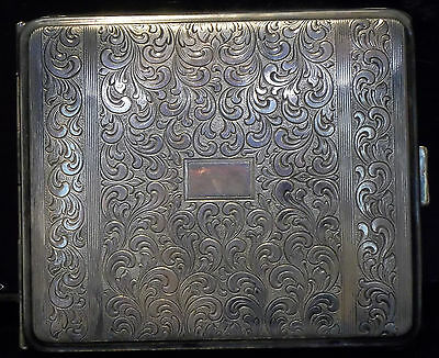 One (1) Vintage Hoka Silver Plated Cigarette Case
