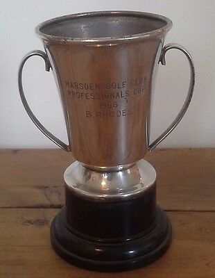 Vintage medium silver plate trophy, silver, trophy, trophies, golfing trophy