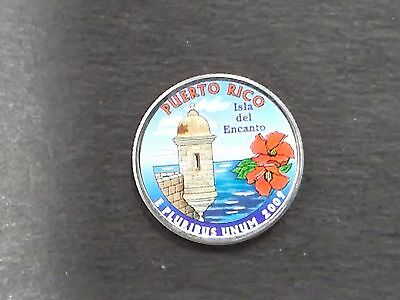 2009 Puerto Rico Colorized America The Beautiful Quarter Single Coin