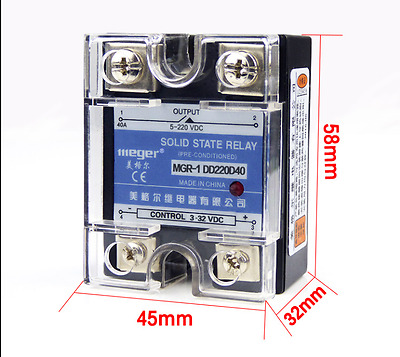 SSR-40A DD DC/DC 5V 12V 32V Solid State Relay for Temperature Controller Arduino