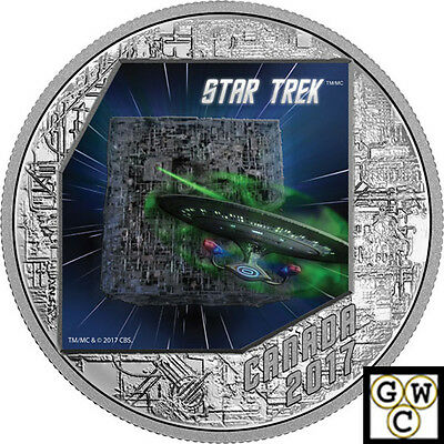 2017 'Star Trek(TM);The Borg' Colorized Prf $20 Silver 1oz .9999 Fine(18104)(NT)