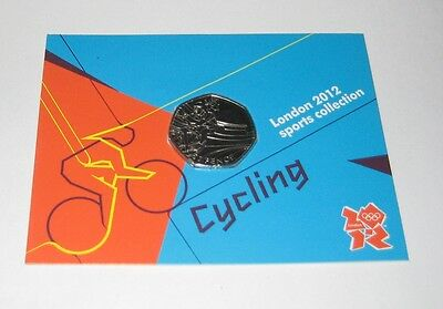 Royal Mint Sports Collection London 2012 Olympics 'Coin' NOC #9 Cycling Cyclist