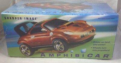 New Rare Sharper Image Remote Controlled Rc Amphibicar Sealed In Box Nib