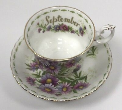 "Royal Albert ""Flower of the month"" September Bone China Tea Cup Set"